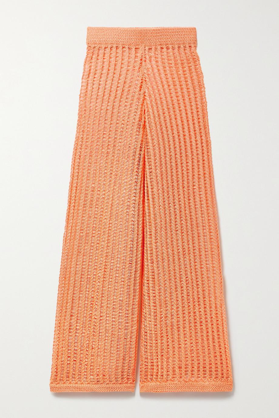 Solid & Striped The Leila Hose mit weitem Bein aus Lochstrick