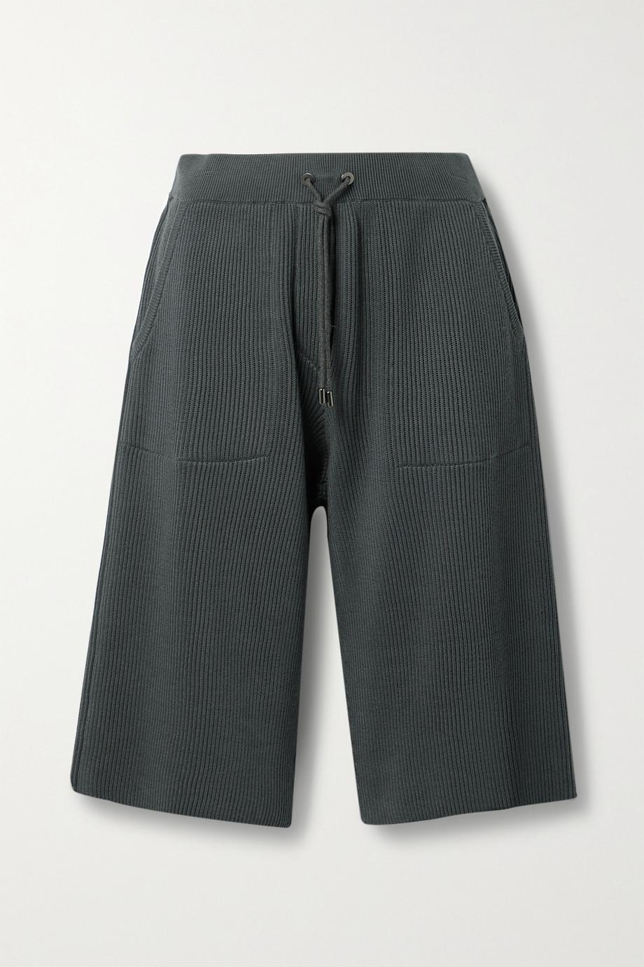 Brunello Cucinelli Short en coton côtelé