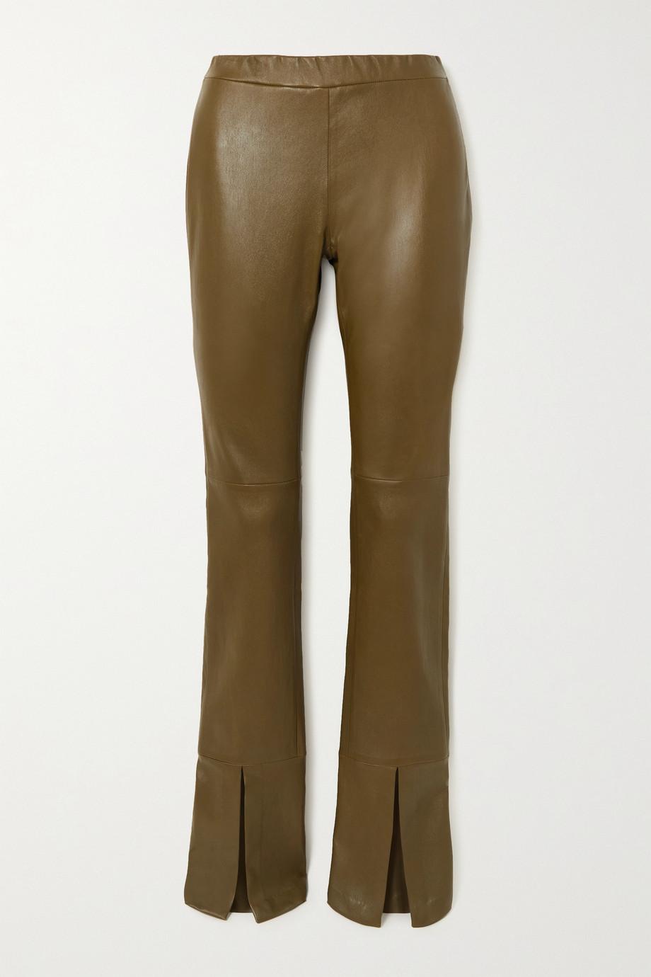 Rosetta Getty Pantalon évasé en cuir