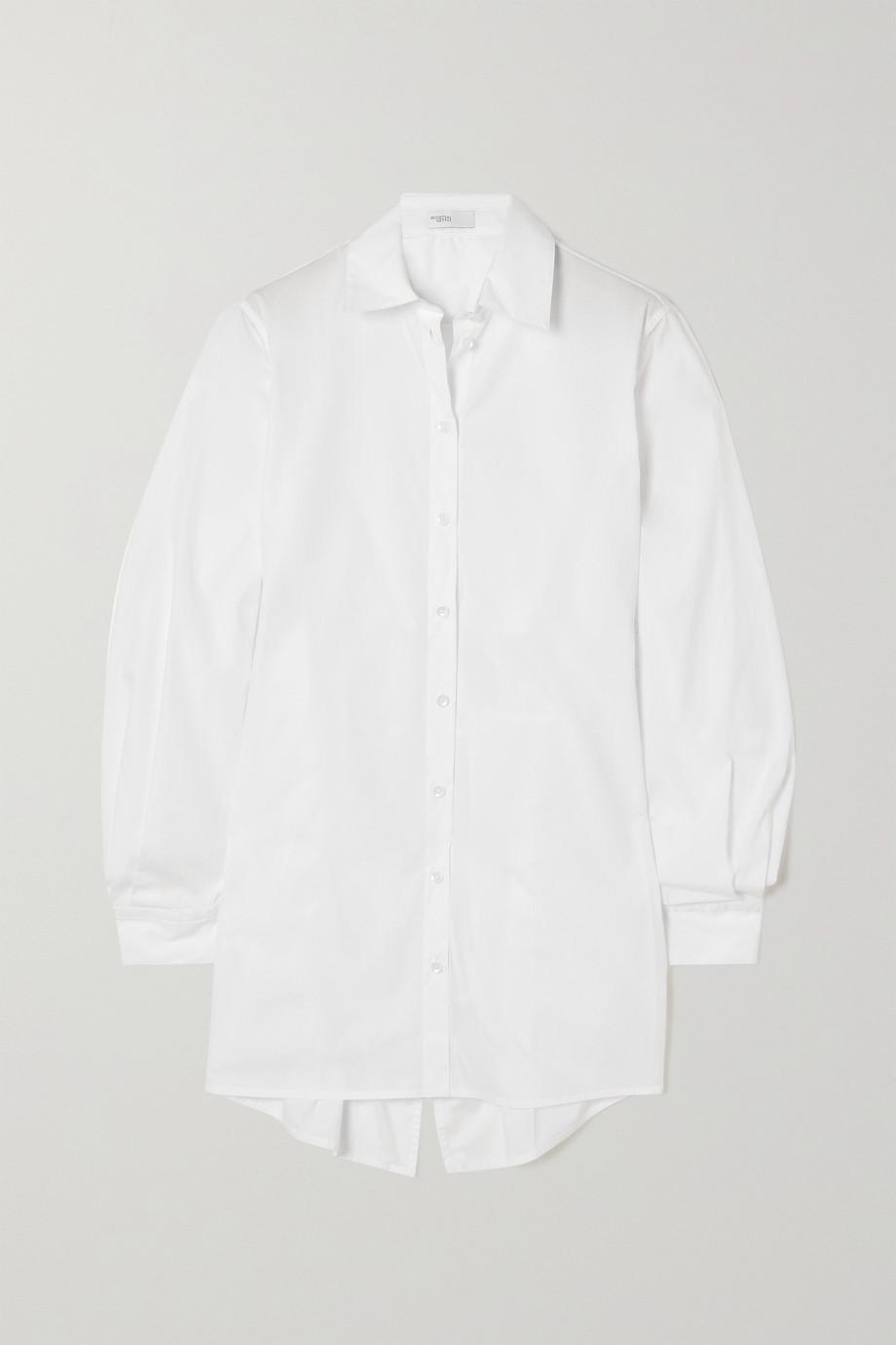 Rosetta Getty Cape-effect open-back cotton-poplin shirt