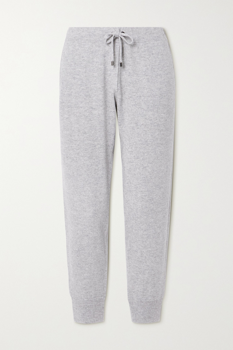 Brunello Cucinelli Tapered bead-embellished cashmere track pants
