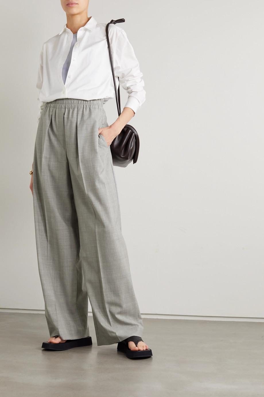 Brunello Cucinelli Pleated wool wide-leg pants