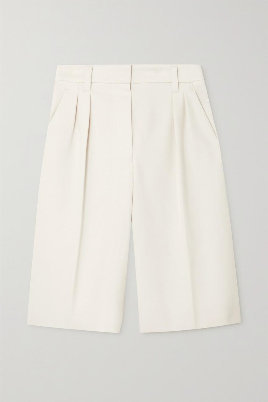 Brunello Cucinelli Shorts aus Jersey aus einer Baumwollmischung mit Falten