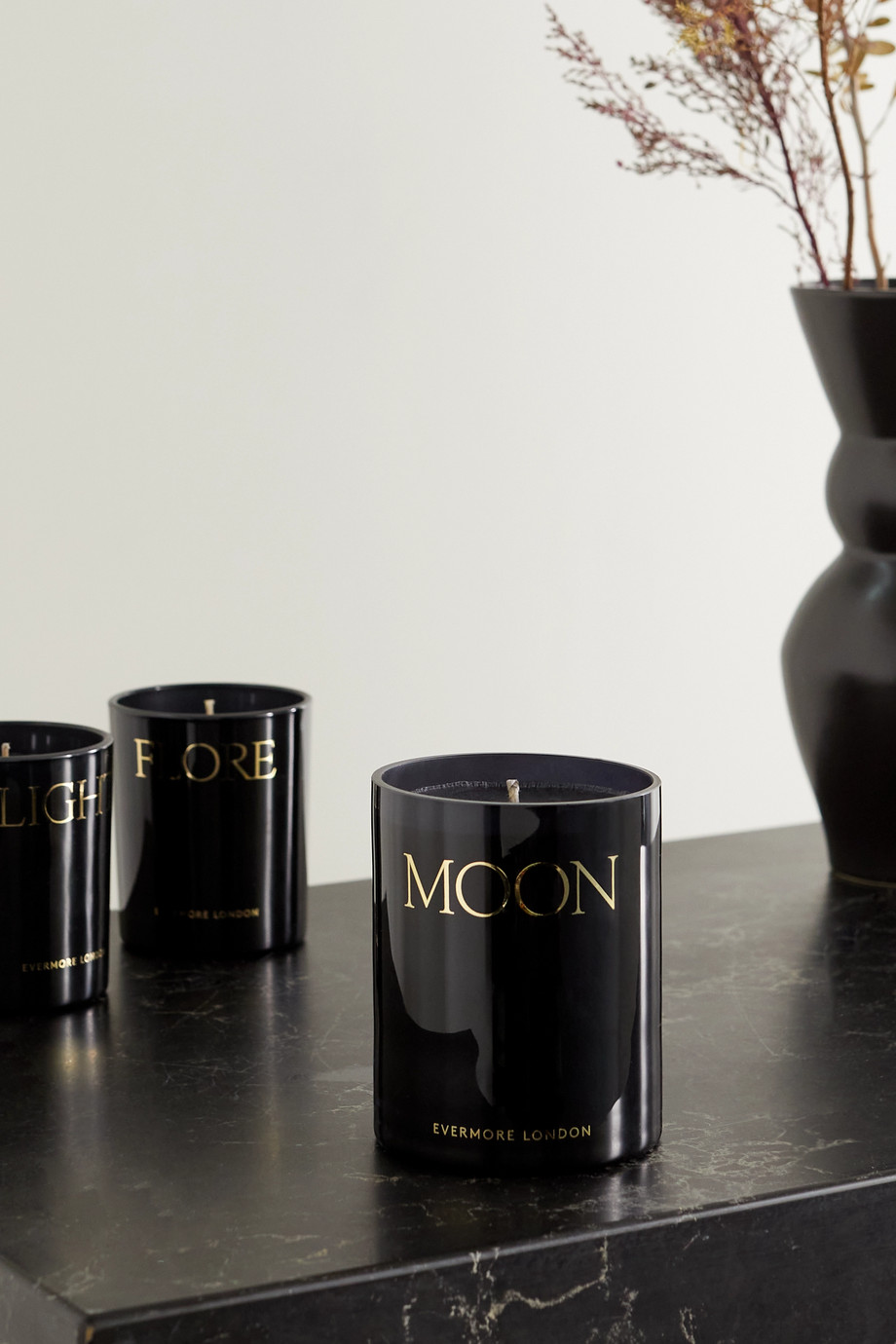 Evermore Moon scented candle - Smoke & Night Rose, 300g