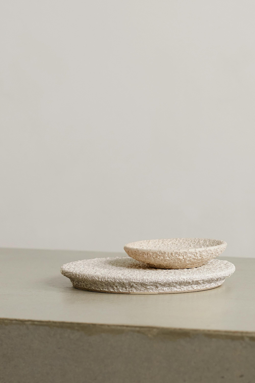 Marloe Marloe Set aus Platte und Schale aus glasierter Keramik