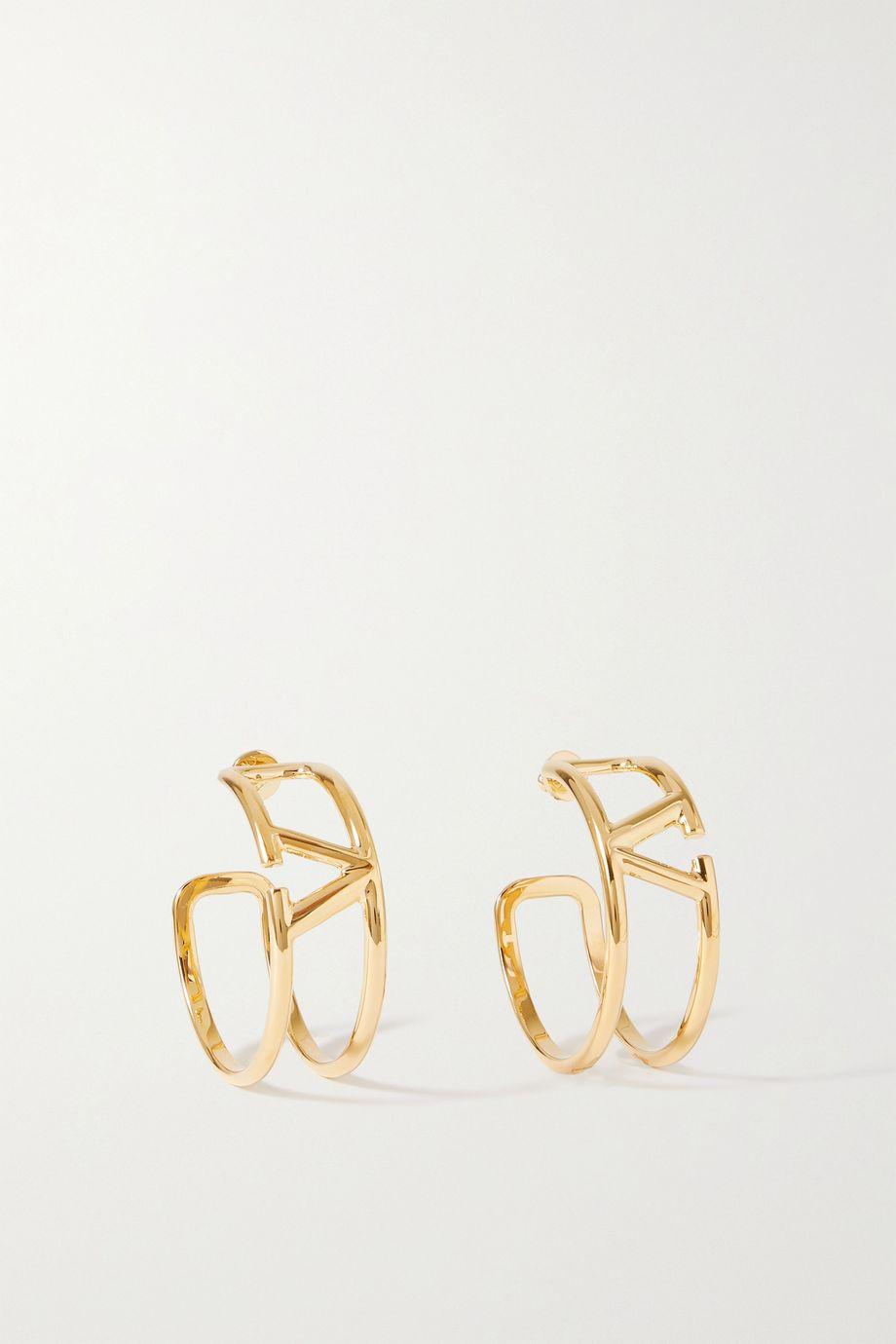 Valentino Boucles d'oreilles dorées Valentino Garavani