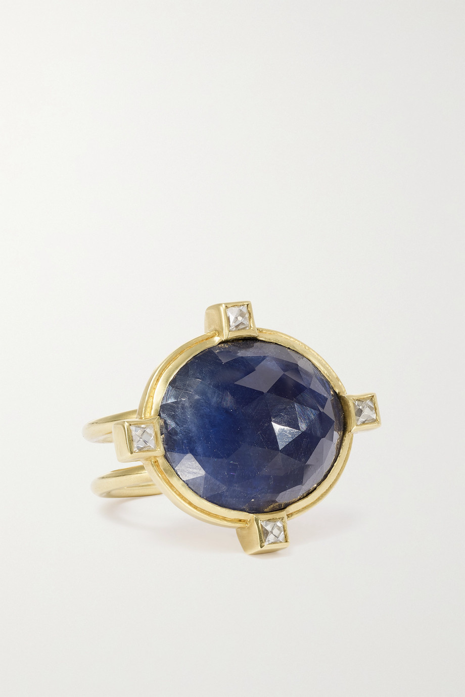 Sylva & Cie Bague en or 18carats, saphir et diamants