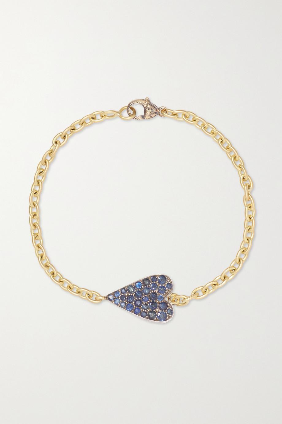Sylva & Cie Bracelet en or 18 carats, argent sterling et saphirs