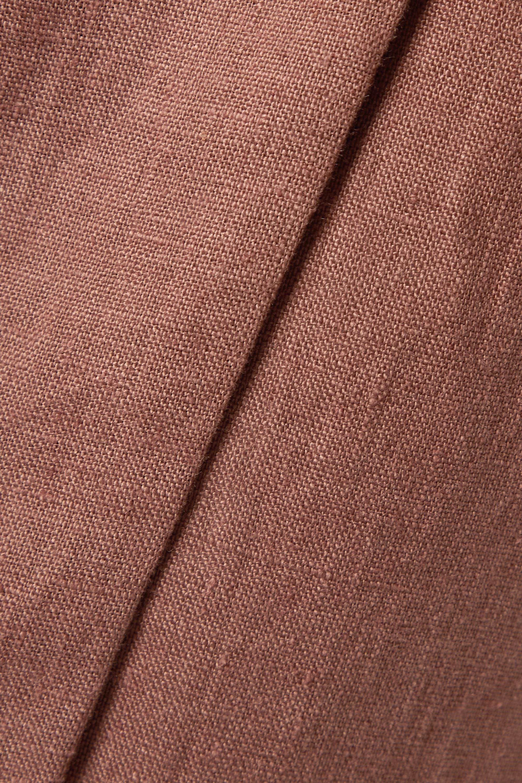 Nanushka Jupe portefeuille en lin Randi - NET SUSTAIN