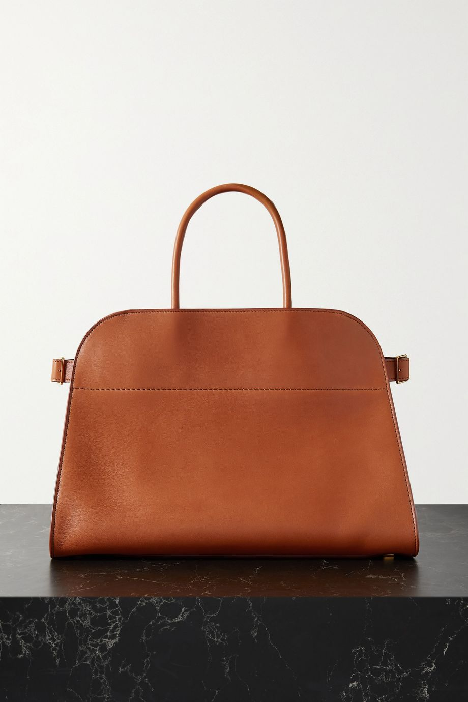 The Row Margaux 15 buckled leather tote