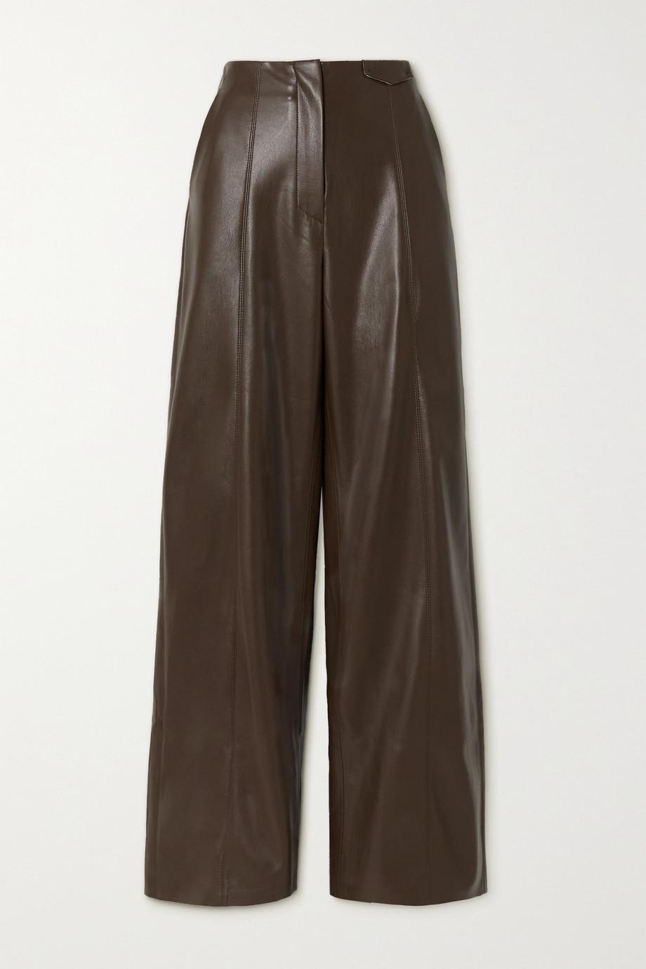 Nanushka Pantalon large en cuir vegan Namas