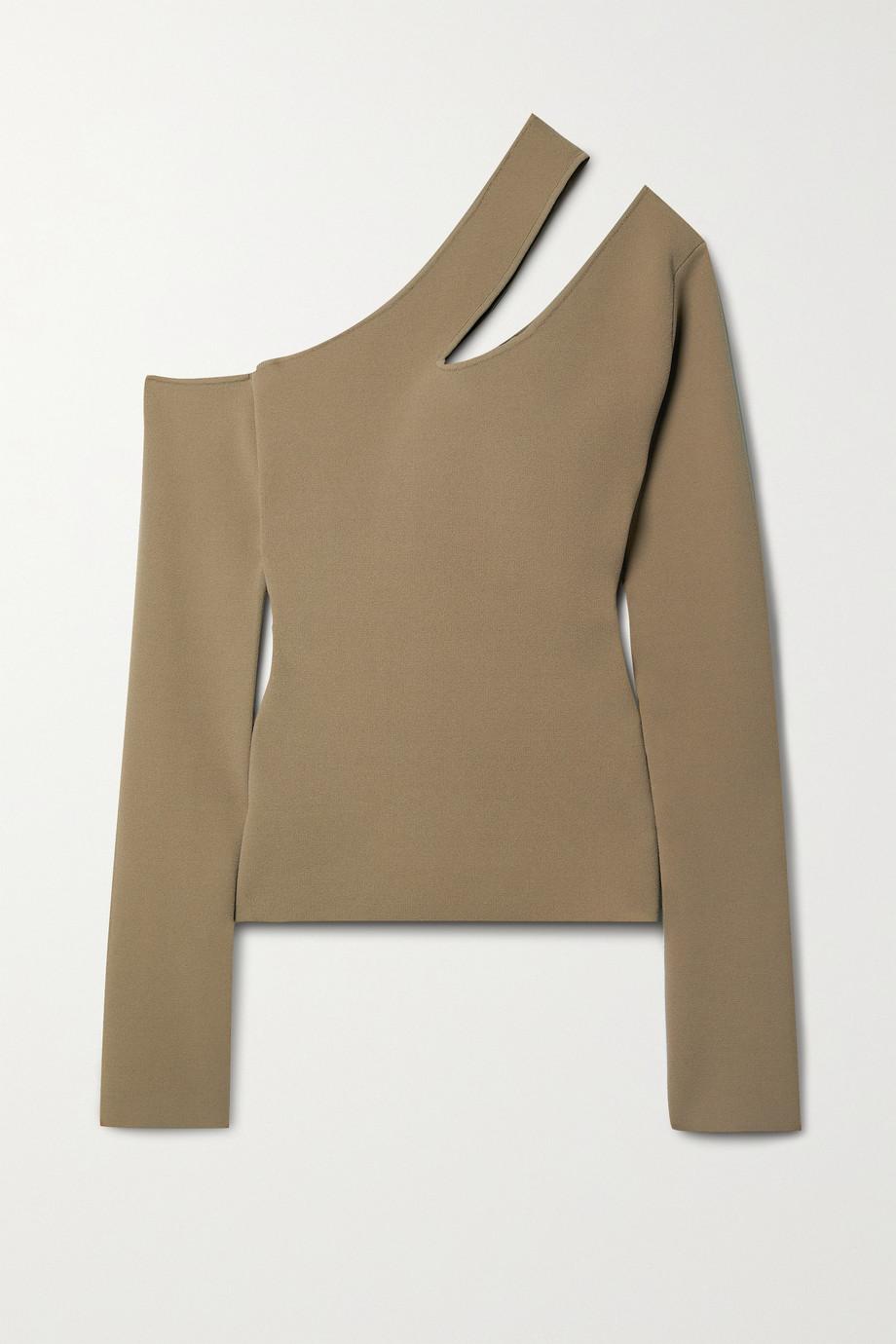 Nanushka Olivia Pullover aus Stretch-Strick mit asymmetrischer Schulterpartie und Cut-outs