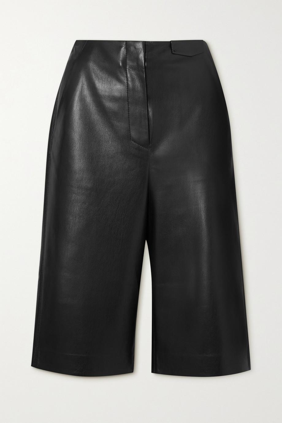 Nanushka Tazu Shorts aus veganem Leder
