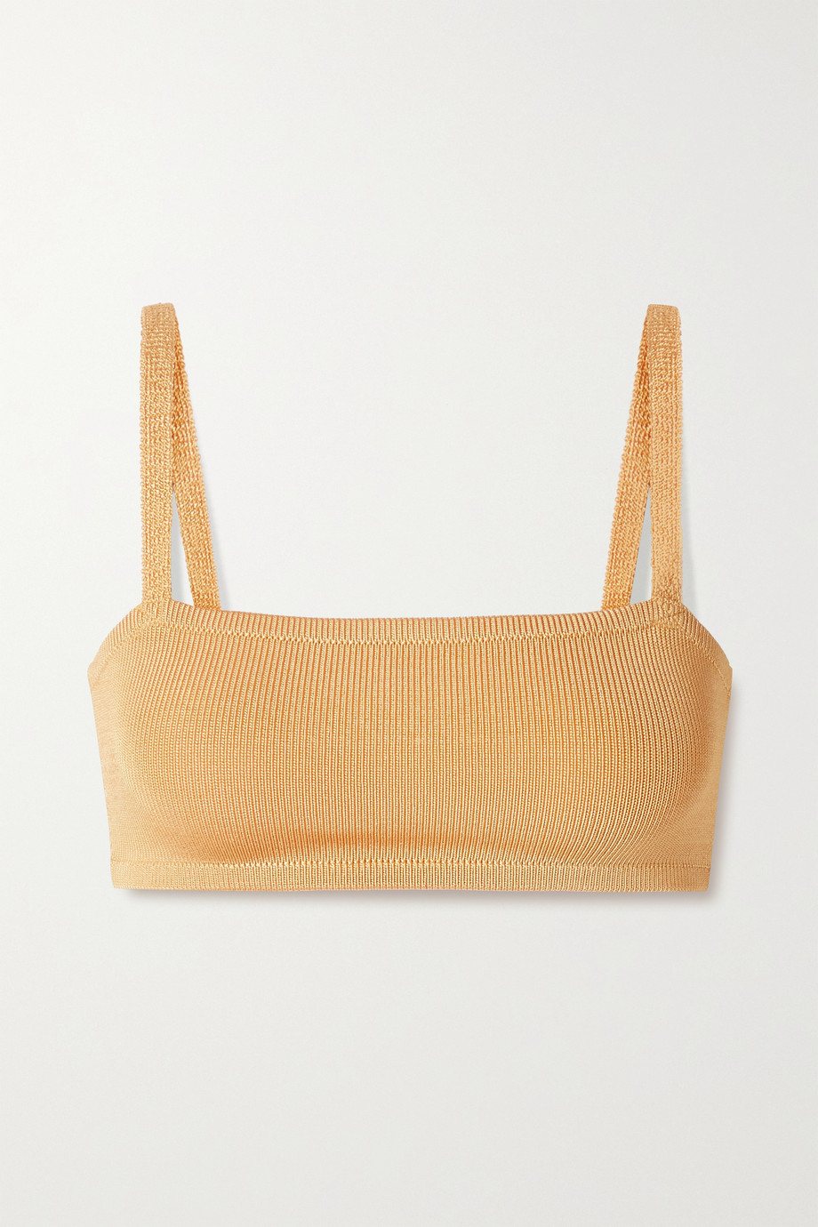 Calle Del Mar + NET SUSTAIN cropped stretch-knit bra top