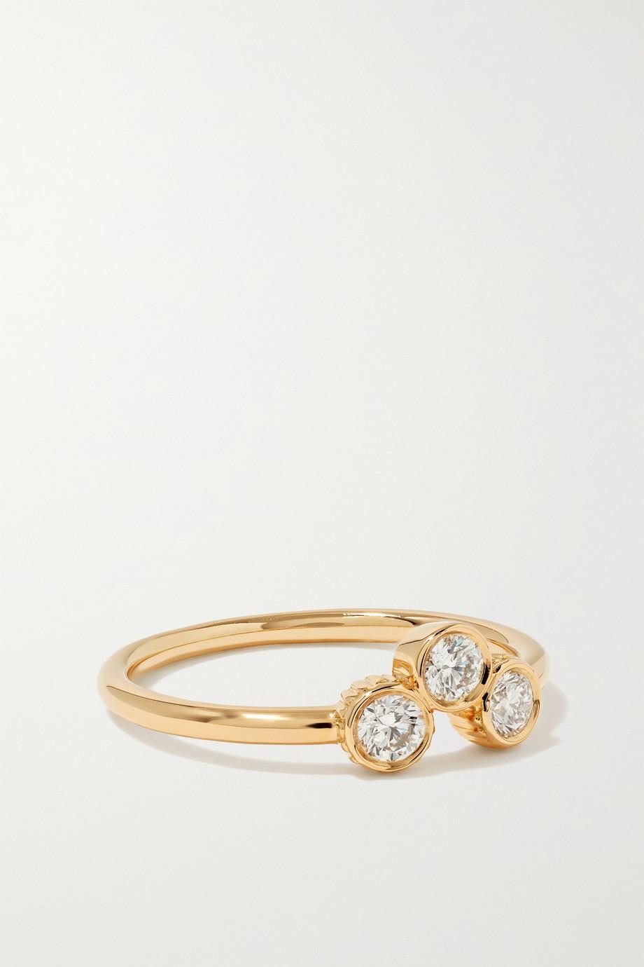 Viltier Bague en or 18 carats et diamants Clique