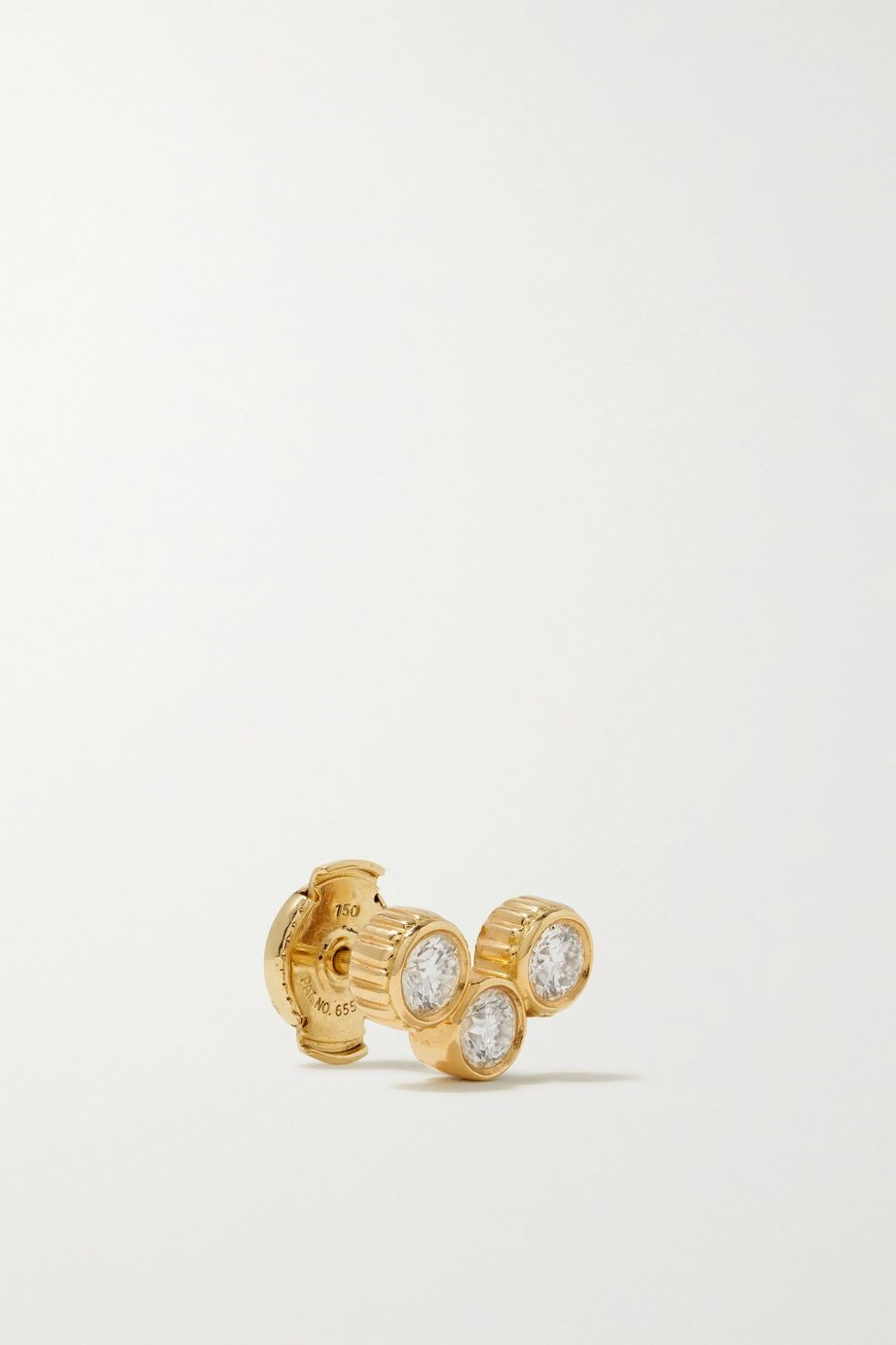 Viltier Clique 18-karat gold diamond earrings