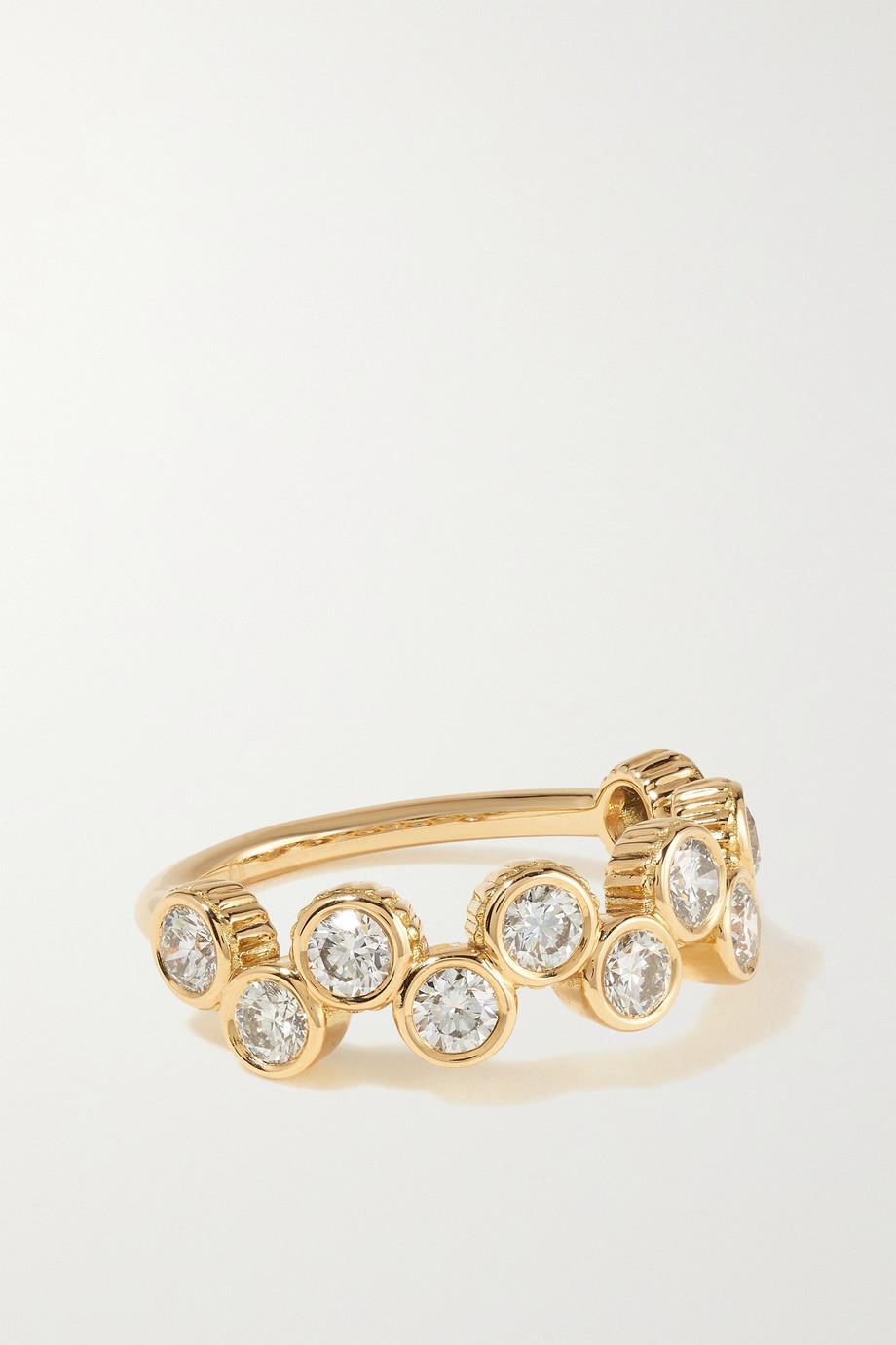 Viltier Clique Ring aus 18 Karat Gold mit Diamanten