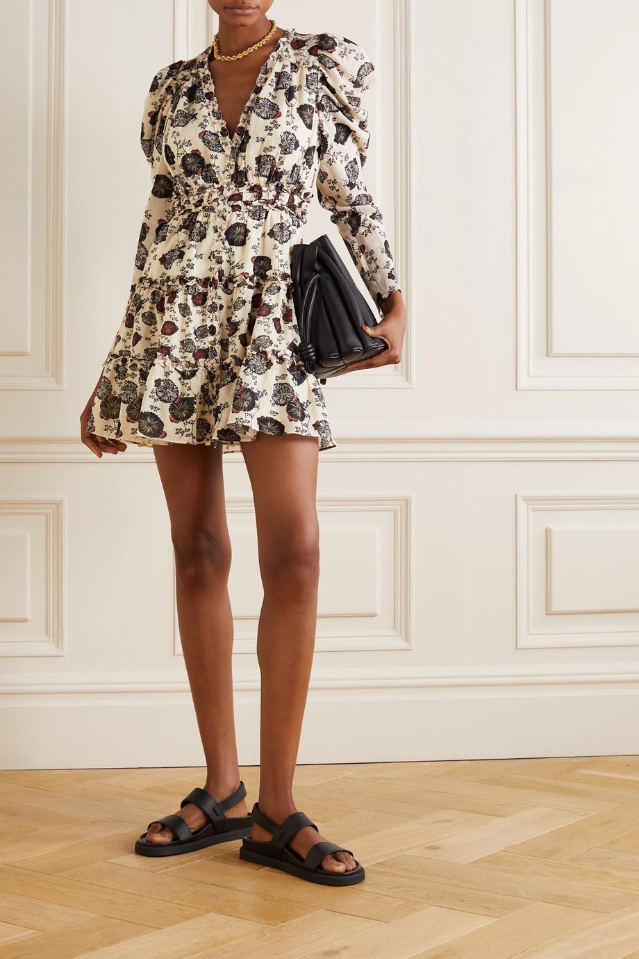 Ulla Johnson Winsor ruffled floral-print cotton-blend voile mini dress
