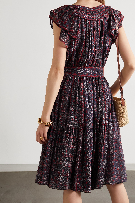 Ulla Johnson Callista belted gathered floral-print silk dress