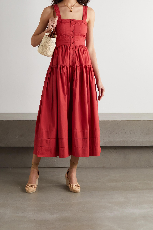 Ulla Johnson Isabela tiered cotton-poplin midi dress