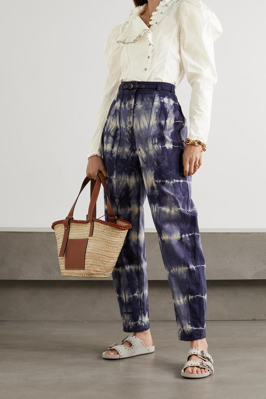 Ulla Johnson Lamont bead-embellished embroidered cotton-poplin blouse