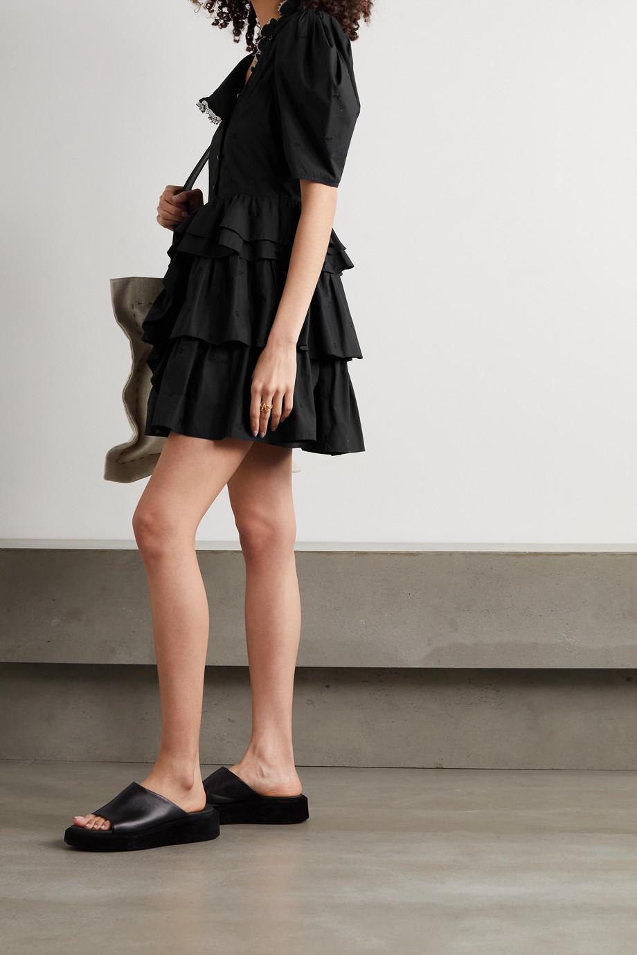 Ulla Johnson Linnea tiered embroidered cotton-poplin mini dress