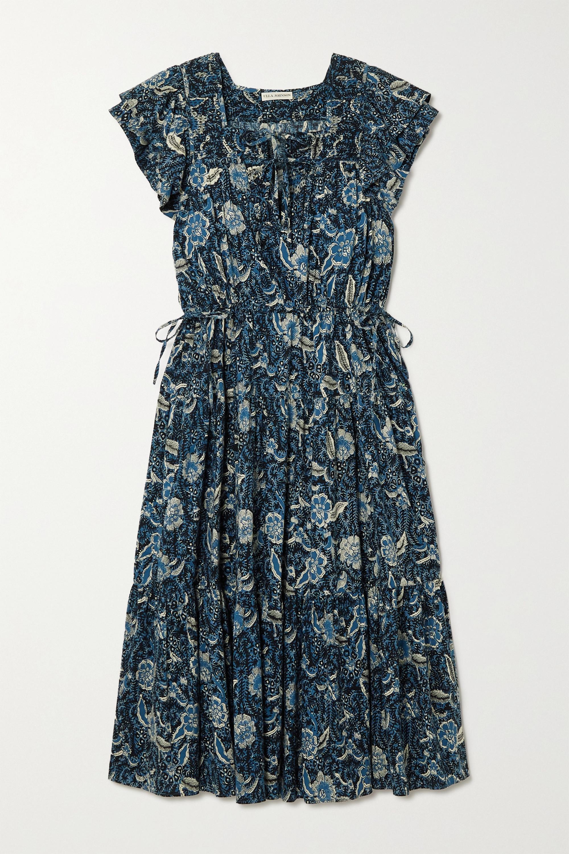 Ulla Johnson Zuma tiered floral-print cotton-blend midi dress
