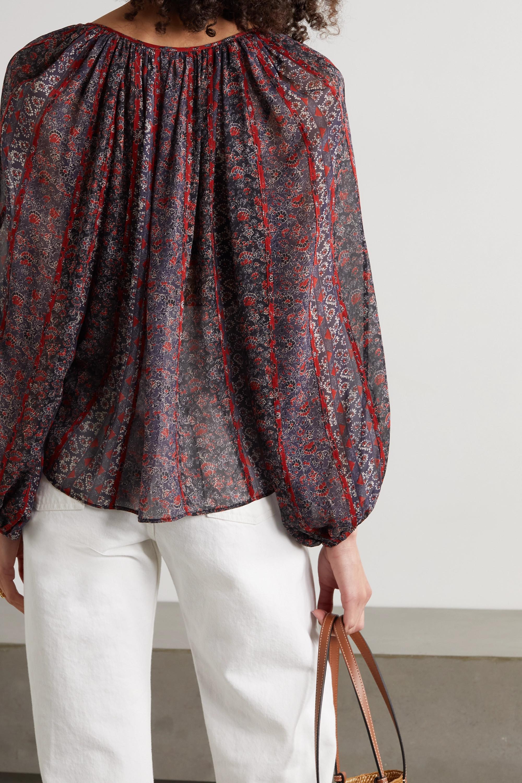 Ulla Johnson Deetra floral-print silk-voile blouse