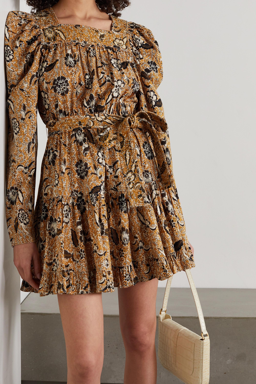 Ulla Johnson Mini-robe en coton mélangé à imprimé fleuri Nailah