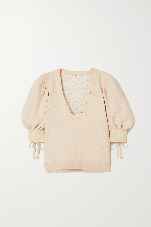Ulla Johnson Bess poplin-trimmed cotton sweater