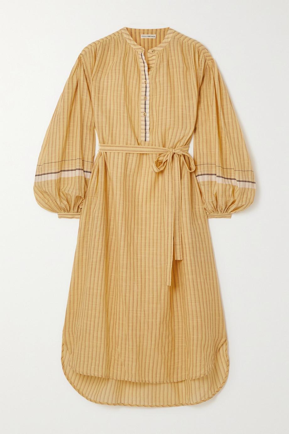 Ulla Johnson Rabea belted striped cotton midi dress
