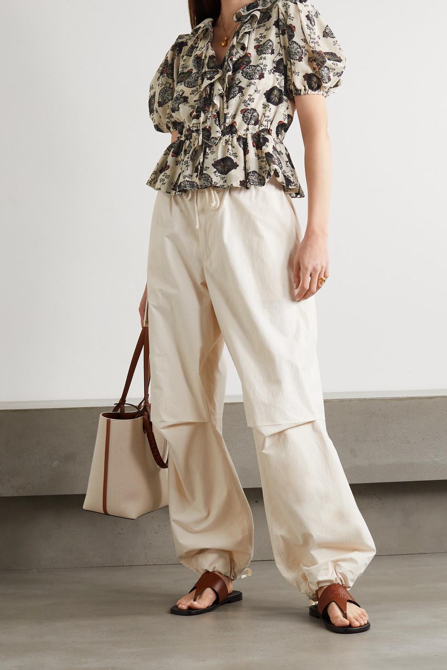 Ulla Johnson Nadya ruffled floral-print cotton-blend voile blouse