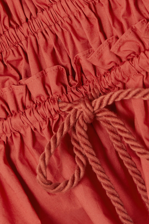 Ulla Johnson Evita tasseled shirred cotton-poplin blouse