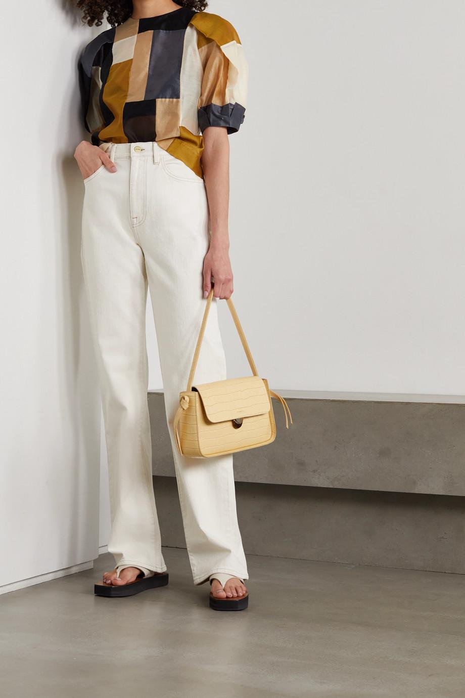 Ulla Johnson Gaia patchwork cotton and silk-blend blouse