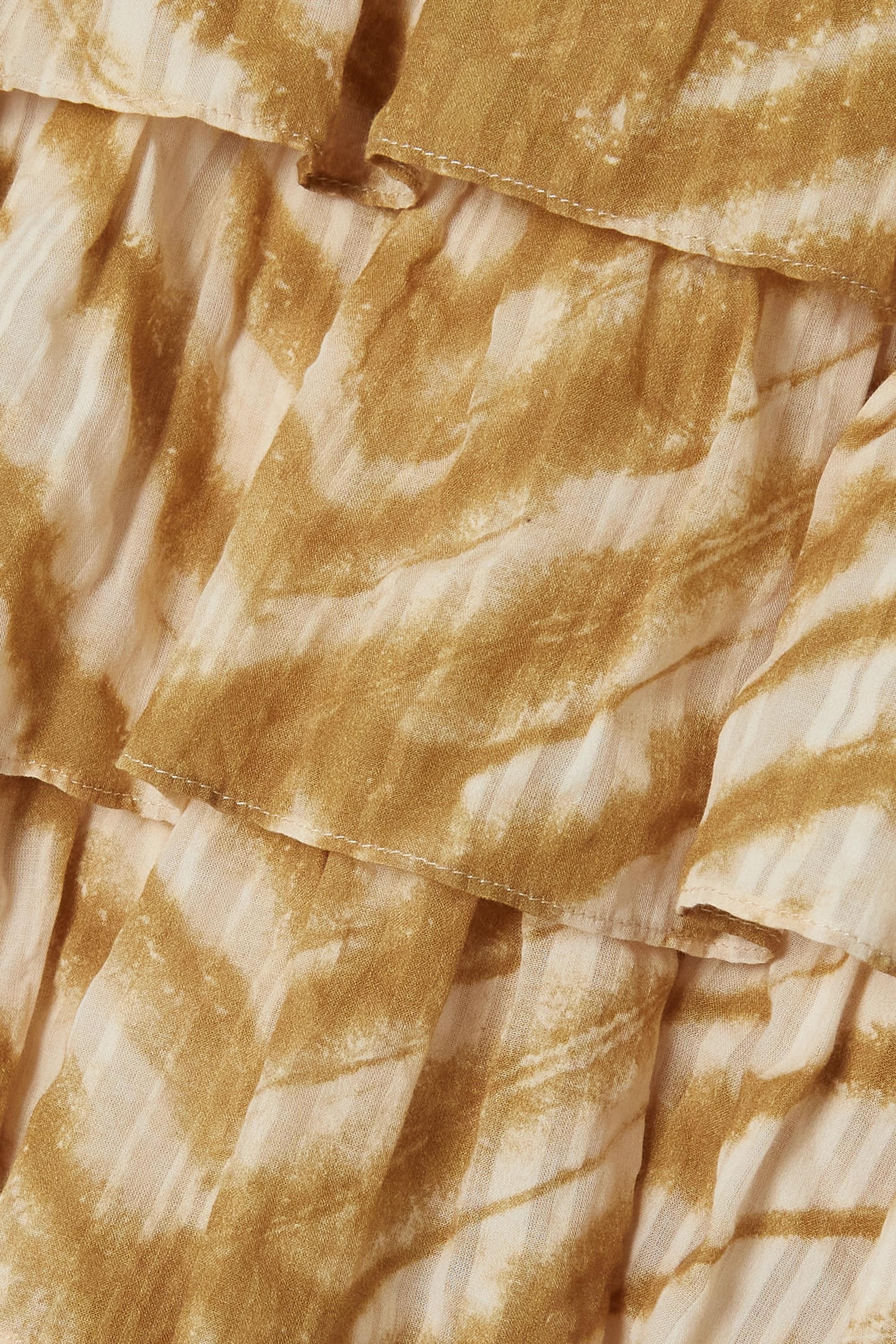 Ulla Johnson Jupe en coton tie & dye à volants Margot