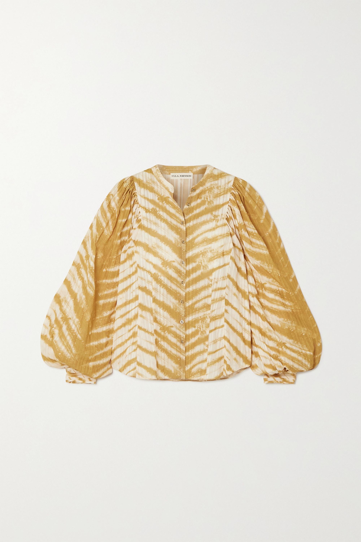 Ulla Johnson Prudence tie-dyed cotton blouse