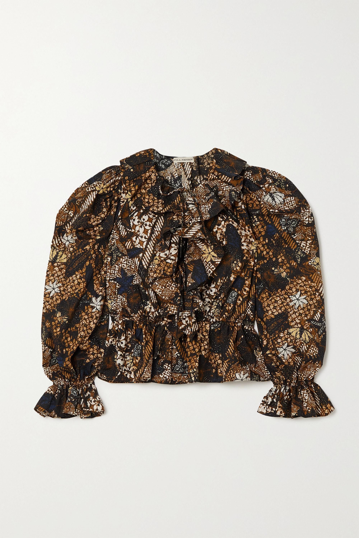 Ulla Johnson Kalila ruffled printed cotton blouse
