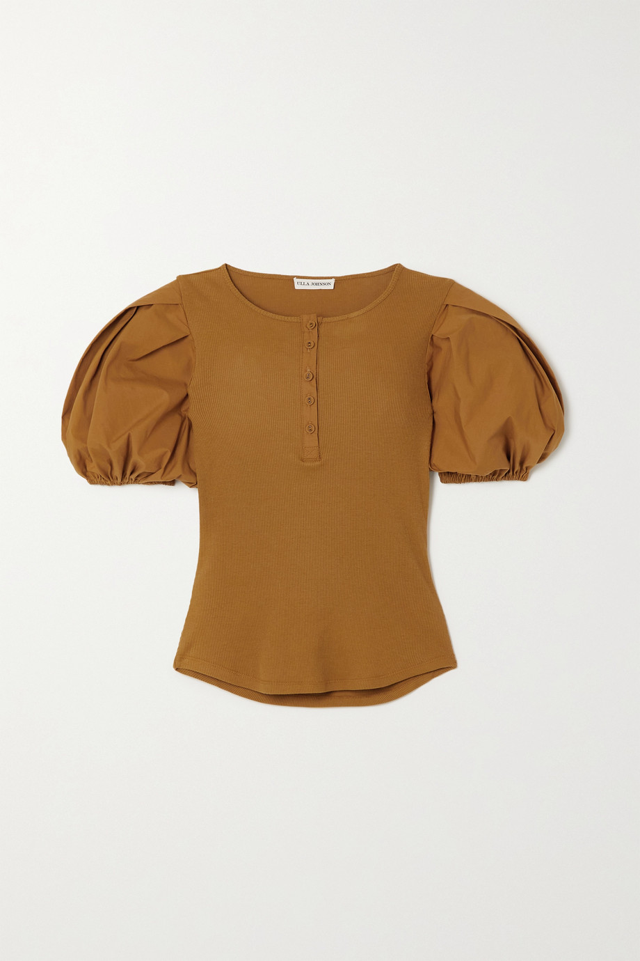 Ulla Johnson Kara ribbed cotton top