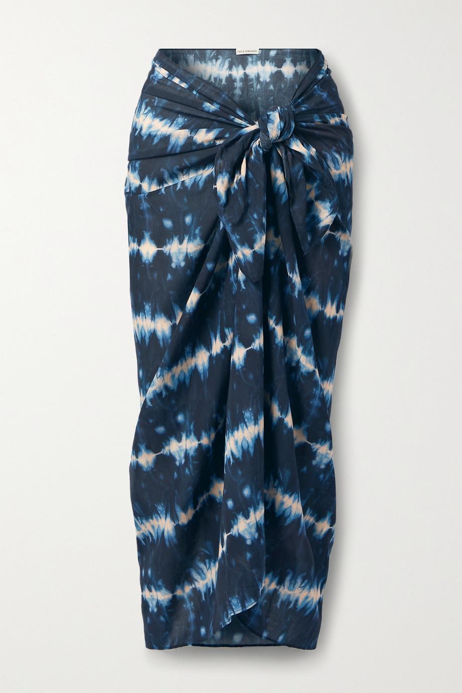 Ulla Johnson Paz tie-dyed cotton-blend voile pareo