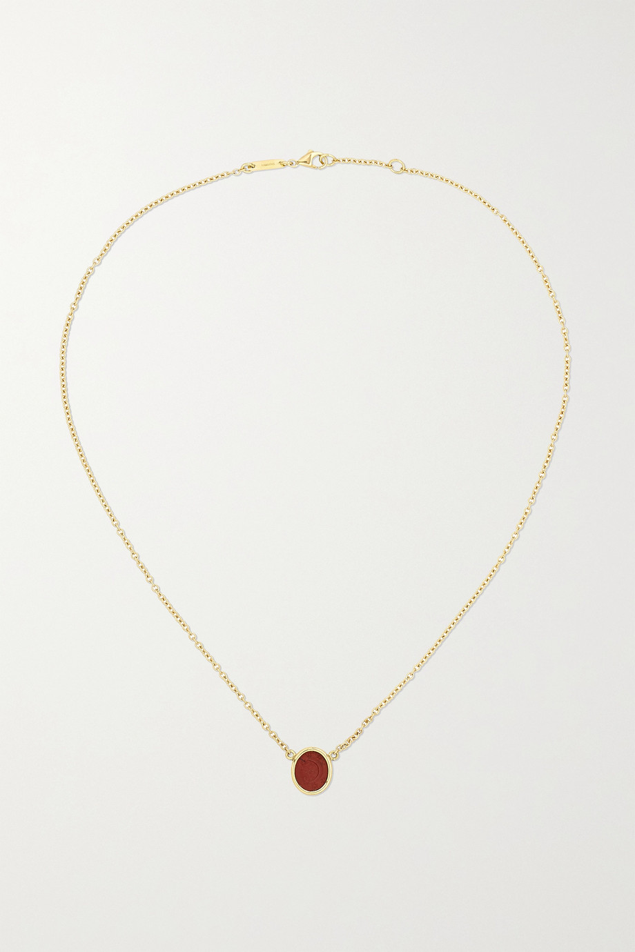 Dubini 18-karat gold jasper necklace