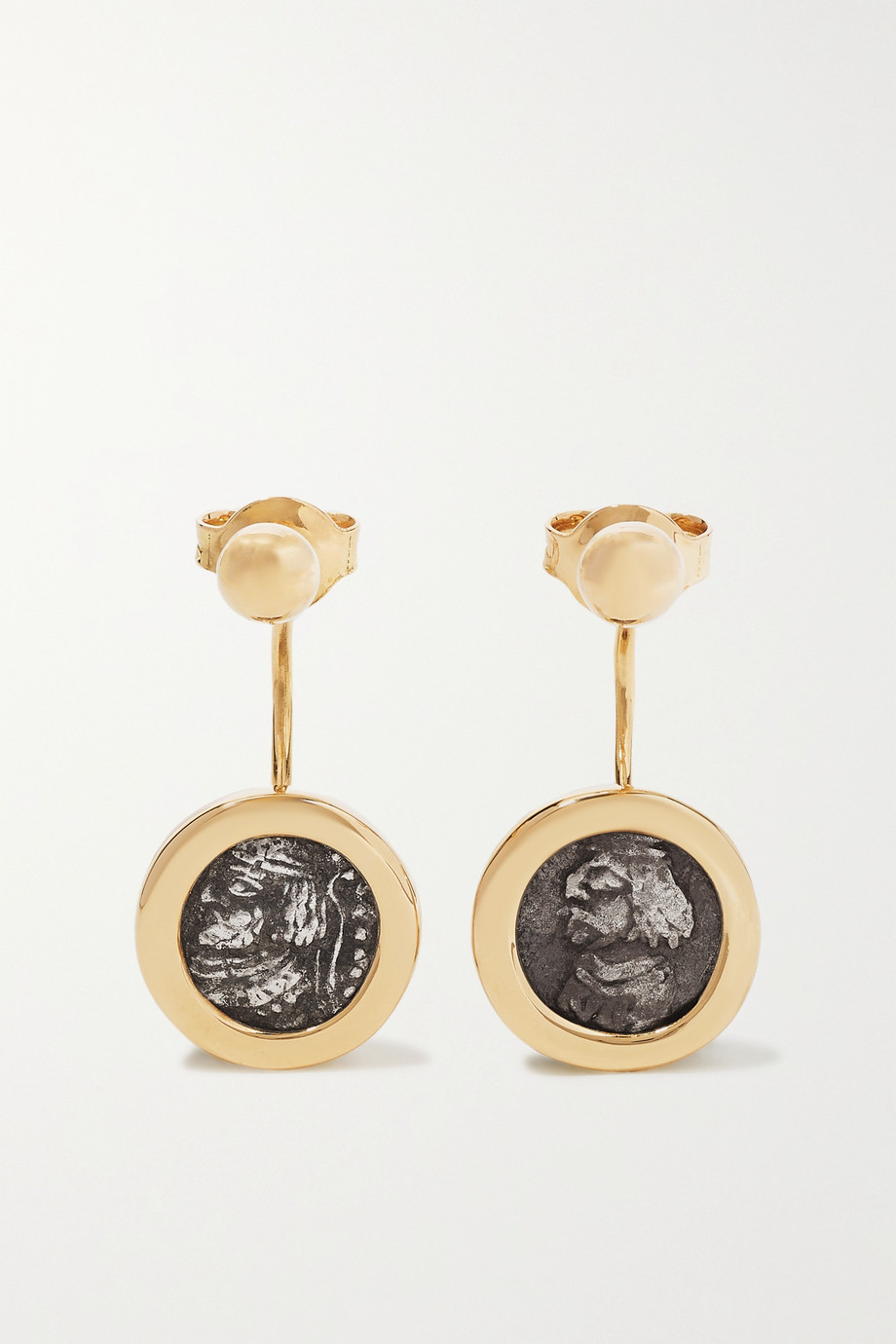 Dubini 18-karat gold and silver earrings