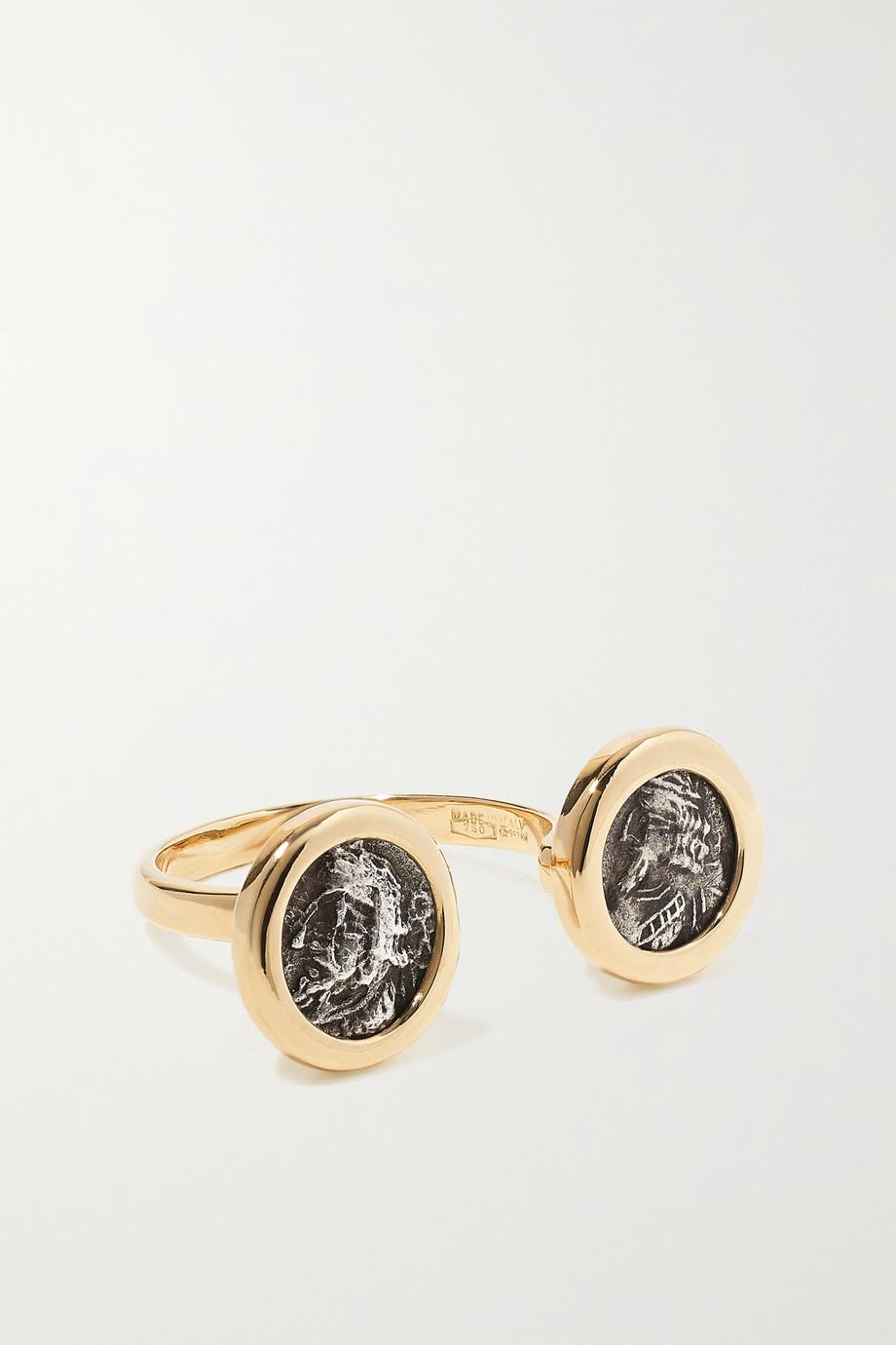 Dubini 18-karat gold and silver ring