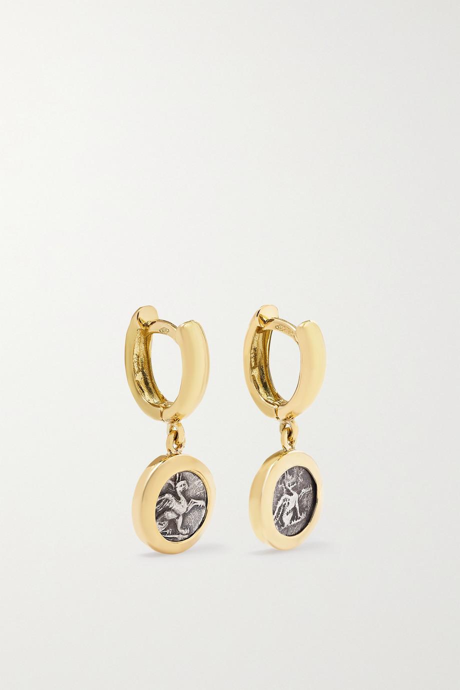 Dubini 18-karat gold hoop earrings