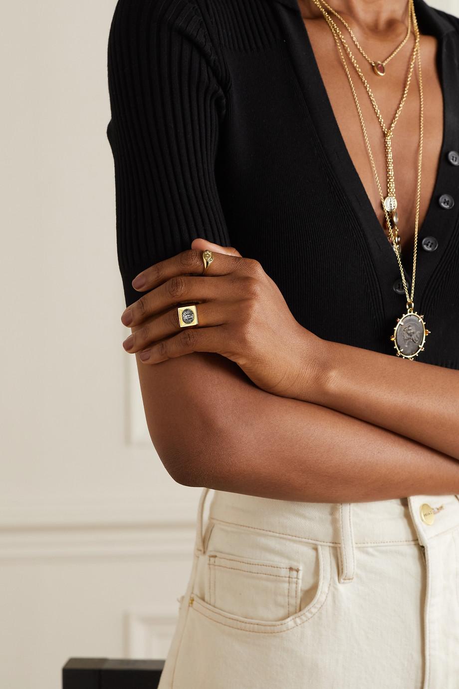 Dubini Larissa 18-karat gold and silver ring