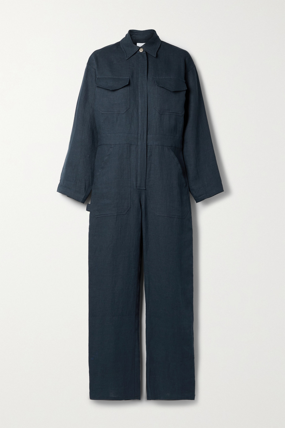Rivet Utility + NET SUSTAIN Powerhouse linen jumpsuit