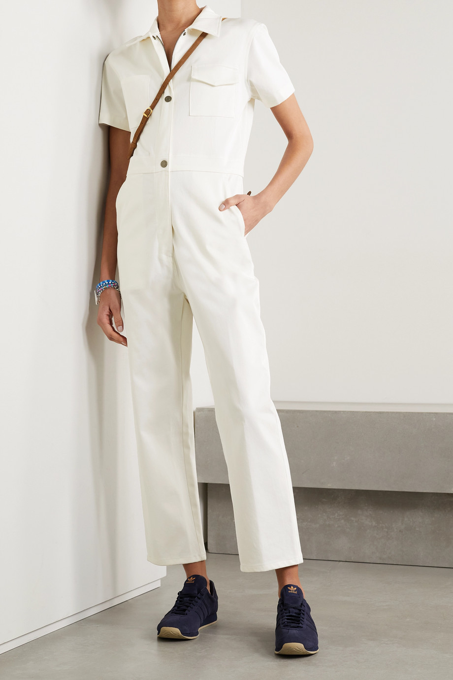 Rivet Utility + NET SUSTAIN Work cotton-blend twill jumpsuit