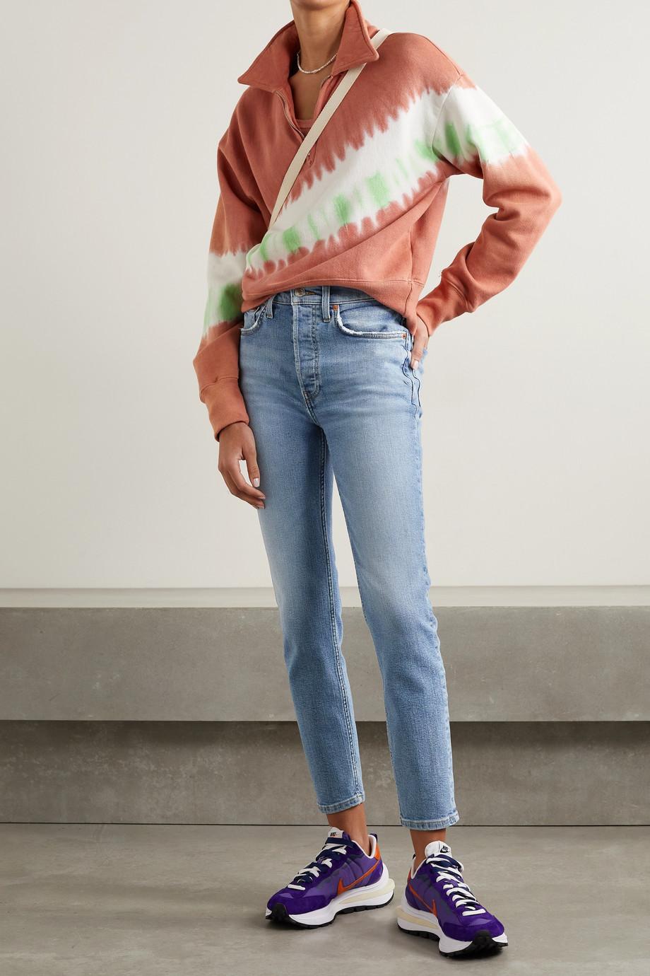RE/DONE Stretch Ankle Crop hoch sitzende Skinny Jeans