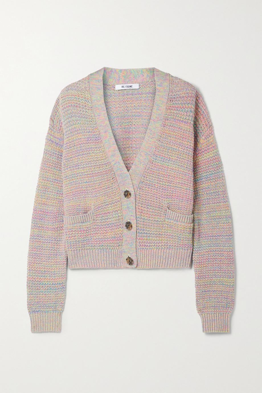 RE/DONE 90s Oversized-Cardigan aus einer Baumwoll-Leinenmischung