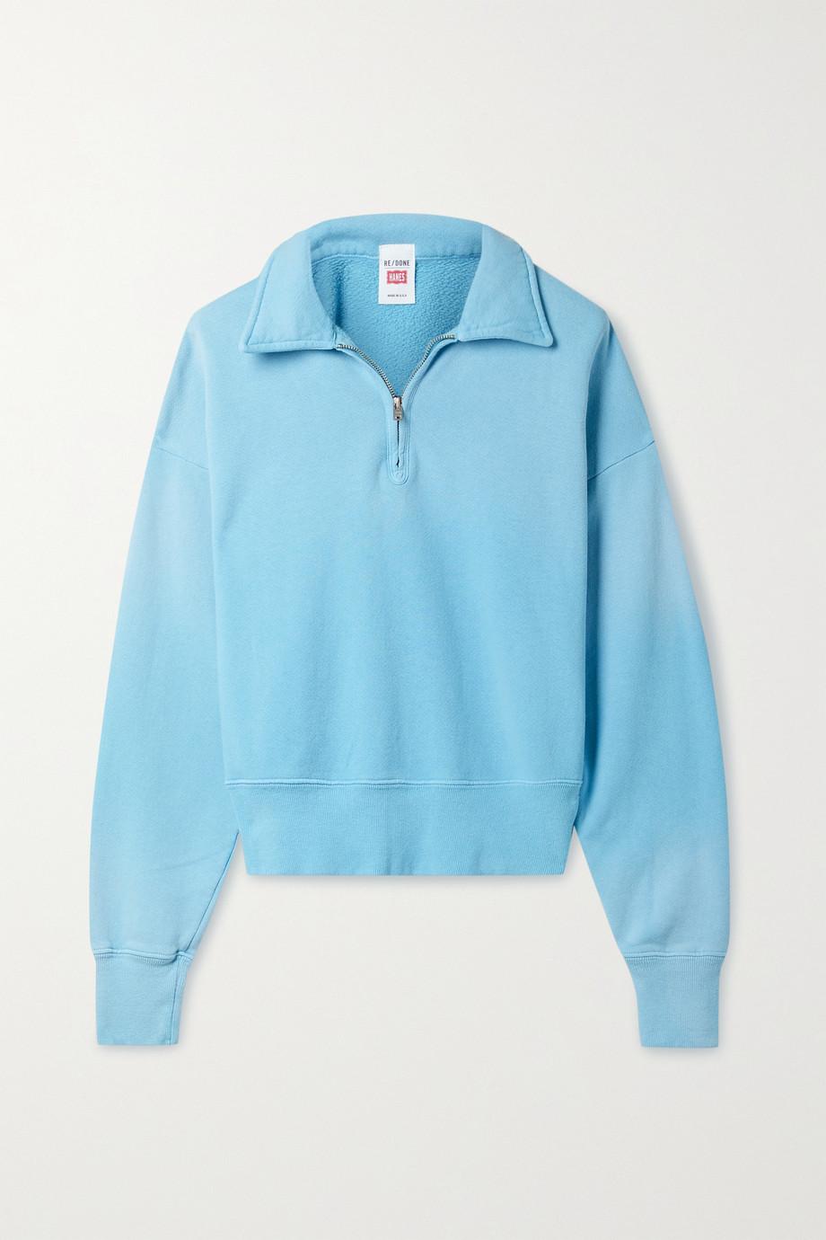 RE/DONE + Hanes 70s Sweatshirt aus Baumwoll-Jersey