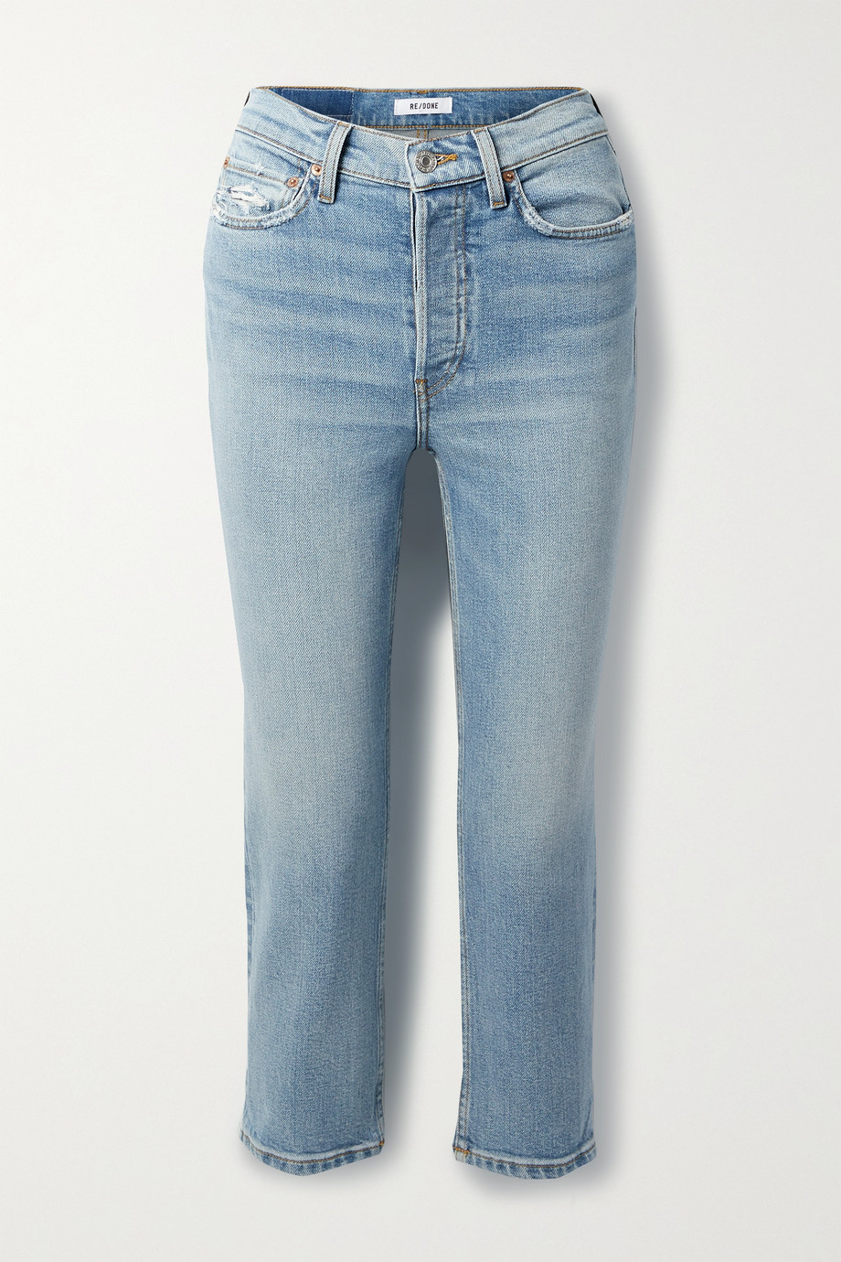 RE/DONE Comfort Stretch High-Rise Extra Crop Skinny Jeans